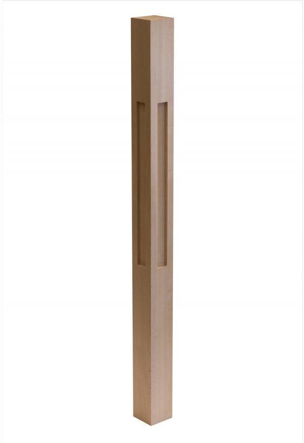 Shaker One Window Wood Post CNC