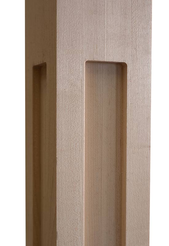 Shaker One Window Wood Post CNC zoom
