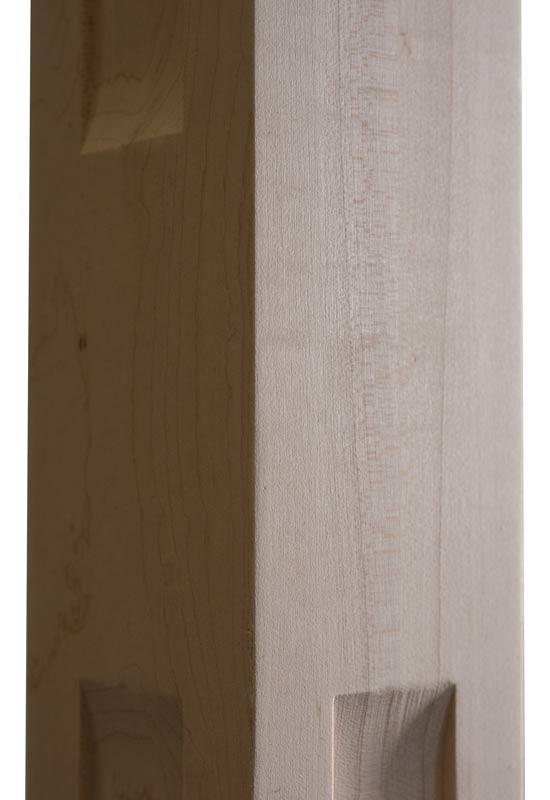 Shaker Two Windows Wood Post Scoop zoom