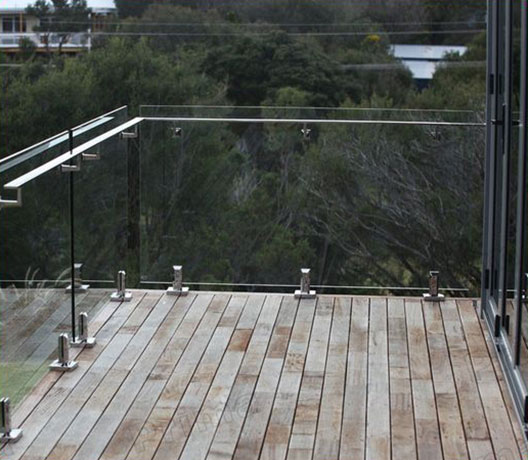 Deck Glass Railing with Clips SSR