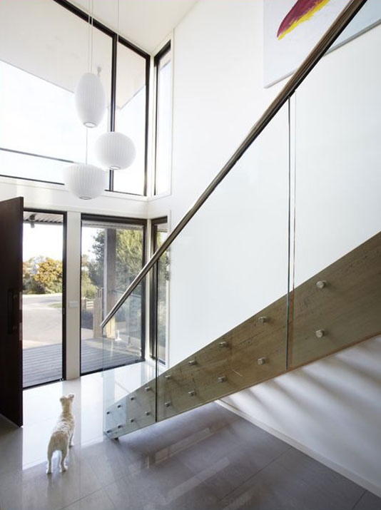 Glass Railing with Standoffs SSR