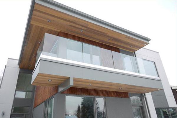 Outdoor Glass Deck Railing SSR