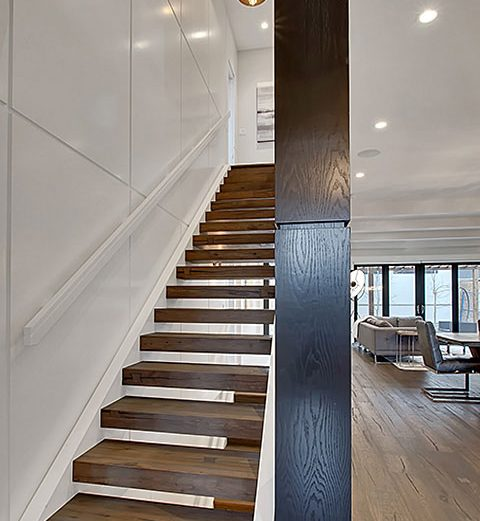 Solid Wood Open Rise Straight Stair SSR