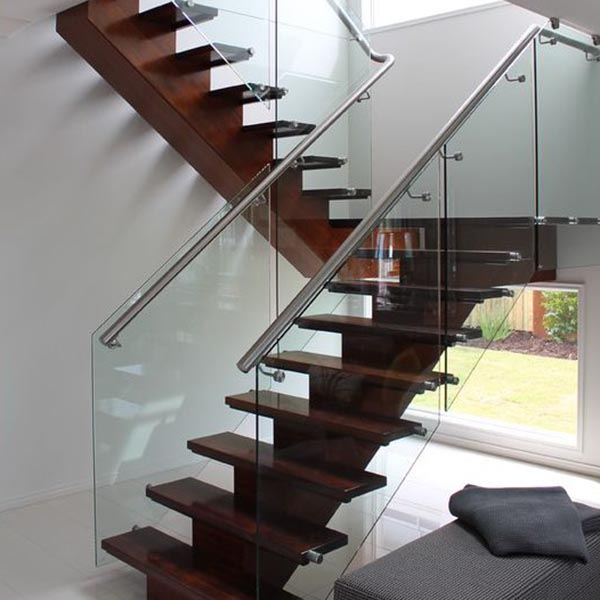 Straight Stair with Glass Railing SSR
