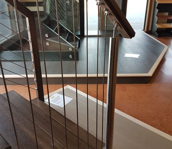 Vertical Cable Railings Stainless Steel Post SSR